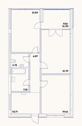 (RU) План 1 этажа
